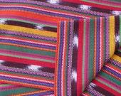 Guatemalan Ikat Fabric in Juicy Fruit Stripe