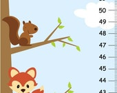 ON SALE Children Growth Chart - woodland forest friends height chart