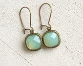 Rustic Glam Earrings in Pacific Opal