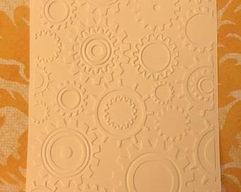 10 Gears Embossed Cardstocks - Choose your color