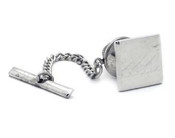 Vintage Silver Tone Tie Tac/Lapel Pin #554
