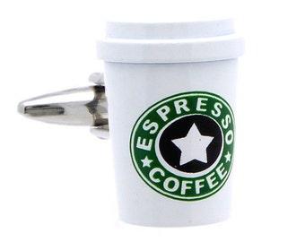 Espresso Coffee Cufflinks