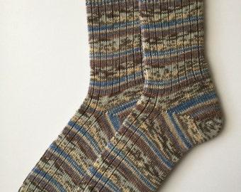 """Men's  Socks, Wool  """"Opal Masken Ball"""", Hand Cranked"""