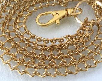 Pretty 18 Gage Genuine Brass Ladder Chain ID Lanyard