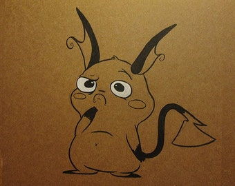 Raichu Ink Drawing