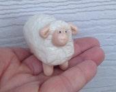 handmade ceramic sheep miniature