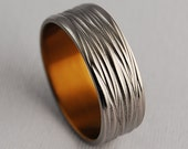 Titanium Ring , Wedding Band , Promise Ring , The Sphinx Band in Bronze
