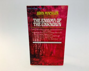 Vintage Paranormal Book Enigma of the Unknown by John Macklin 1967 Paperback
