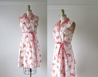 SALE vintage 1960s dress / 60s dress /  Cherry Pie