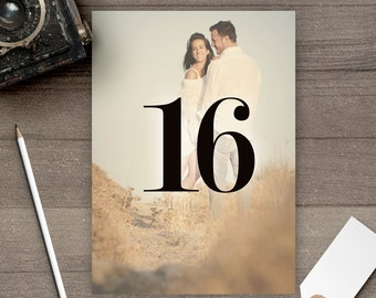 Photo Table Numbers / Photo Wedding Table Numbers / Table Numbers / Table Number Cards / Photos / Engagement Pictures - tn0021
