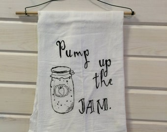 pump up the jam dish towel