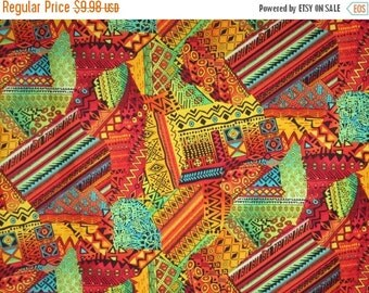 ON SALE Colorful African Patchwork Kenta Print Pure Cotton Fabric--One Yard