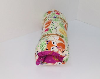 Infant Car Seat ARM PAD, Handle Cover Wrap, Reversible -  What Does the Fox Say
