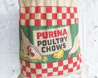 Purina Poultry Chows Clothespin Bag . Purina Advertising . Champion Clothespin Bag . Klema Feeds Franksville Wisconsin . Laundry Room Decor