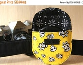 CLEARANCE SALE Lens Cap Holder, 84mm - Yellow Skulls - Ready to Ship