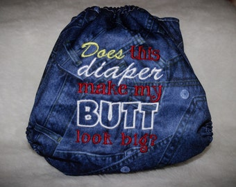 One size pocket cloth diaper!