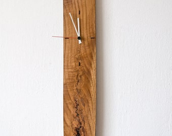 Large Wall Clock Modern Wall Clock Unique Clock Salvaged Wood OOAK 020