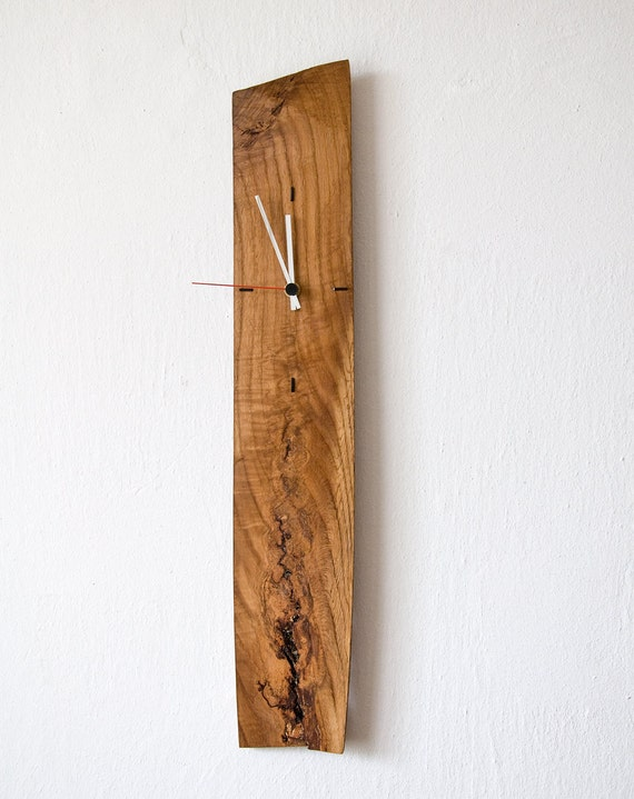 Large Wall Clock Modern Wall Clock Unique Clock Salvaged Wood