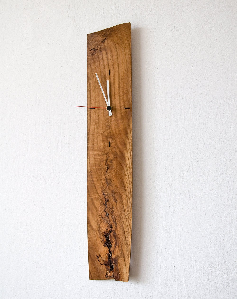 large wall clock modern wall clock unique clock salvaged wood. Black Bedroom Furniture Sets. Home Design Ideas