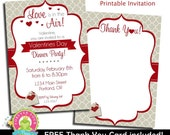 Valentines Day Invitation / Valentines Day Invite / Dinner Party Invitation / Sweetheart Invitation / February Birthday Invitation