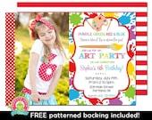 Art Party Invitation - Art Birthday Invitation - Art Party Invite - Girls Art Party Invitation - Art Birthday - Printable Art Invitation