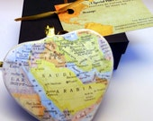 Saudi Arabia Map Christmas Ornament, Your Special Place in the Heart