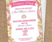 Paisley Baby Shower Invitation - DIY Printable - Invite - Pink