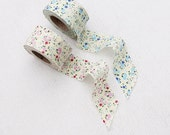 floral cotton bias roll (width 1.3 inches: 3.5cm) 81032