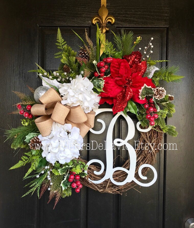 traditional holiday white up from this blog cheery for mix a christmas front wreath unconventional to takes wreaths of house and bright drab all it doors door