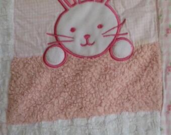 Handmade Baby Quilt Chenille Vintage Nursery Blanket