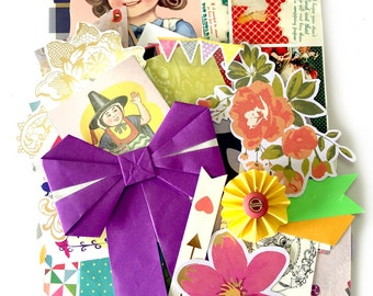 Odd and pieces Scrap Pack - New and Vintage paper ephemera 10
