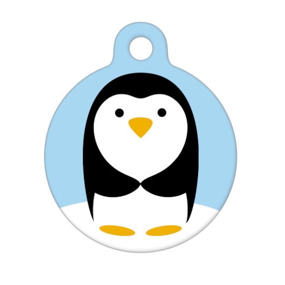 Pet ID Tag - Penguin Pet Tag, Dog Tag, Cat Tag, Luggage Tag, Child ID Tag