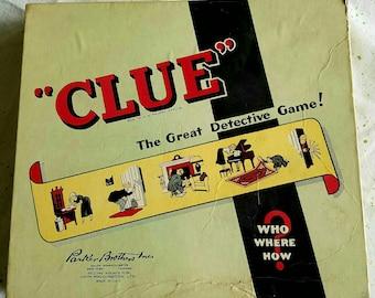 Vintage MCM Clue Game