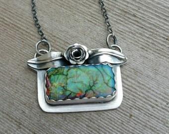 Monarch opal summer in the garden necklace