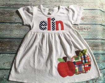 Back to School Dress, Back to School Outfit, Apple Dress, Personalized Dress