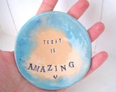 Today is Amazing jewellery dish / ring-bearer dish. Made in Wales, UK.