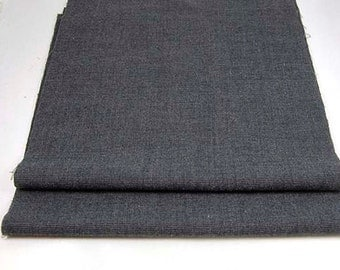 BLUE WOOL PIECES  Navy Check  Upcycled Woolen Fabric 1679