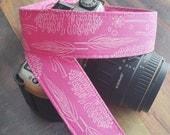 dSLR Camera Strap - Nature Walk - Pink Camera Strap - Cute Camera Strap - Gift for Photographers - Valentine's Day Gift