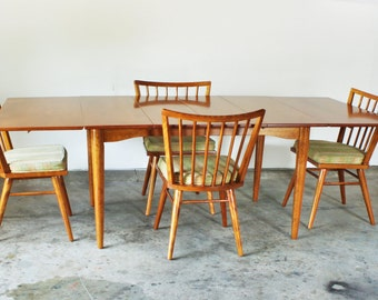 Mid Century Modern Dining Set by Leslie Diamond for Conant Ball