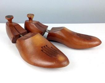 Antique Florsheim Wood Shoe Stretcher - Vintage Home Decor - Fun Fathers Day Gift / Mantique Home Decor