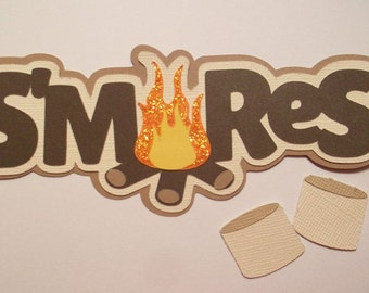 S'mores Title paper piecing for scrapbook pages