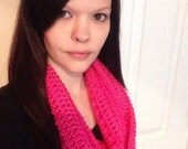 Pink Infinity Scarf Many Colors Available- womens intinty scarf-teen scarf
