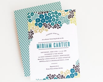 Bridal Shower Invitation, Bridal Shower Invite // BLOOMING CLUSTERS