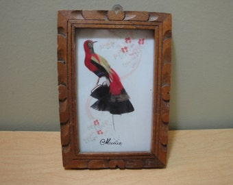 Handmade Feather Art Picture