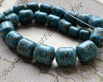16 inch Blue turquoise stone beads loose strands ,turquoise beads,turquoise loose strands