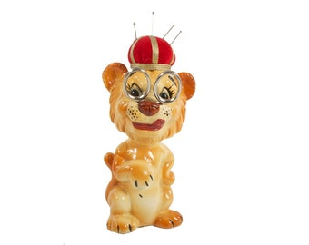 Lion Sewing Caddy - Pin Cusion