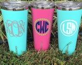 24oz Corkcicle Personalized triple insulated tumbler Very similar to Yeti rambler Monogrammed for you
