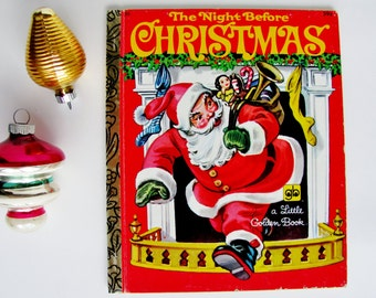 Vintage Little Golden Book The Night Before Christmas 1978 Printing Corinne Malvern Illustrations Holiday Decor