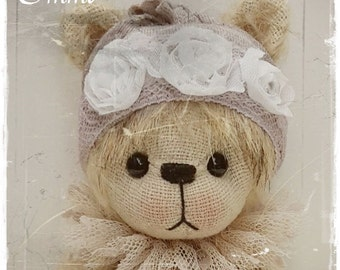 artist bear pattern Emmi 6.25 inch 16 cm by ASTRIDBEARS PDF epattern bear Instant Download teddybear