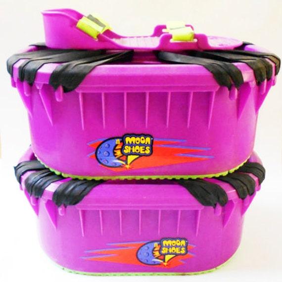 Vintage Big Time Toys Purple Moon Shoes Trampoline Bounce 1989